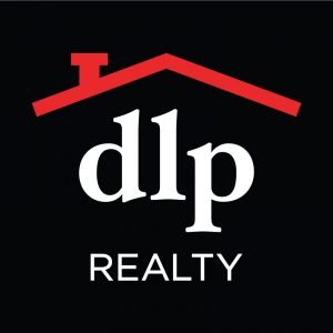 DLP Realty logo with black background